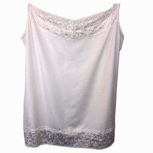 Harold's White Ivory Lace Soft & Stretchy Camisole